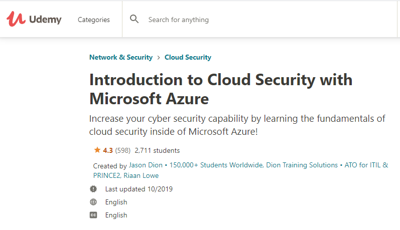 Cloud-Security-with-Microsoft-Azure-course