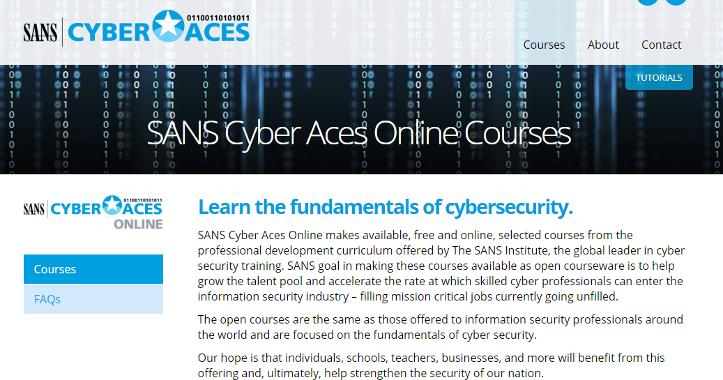 Fundamentals of Cybersecurity-course