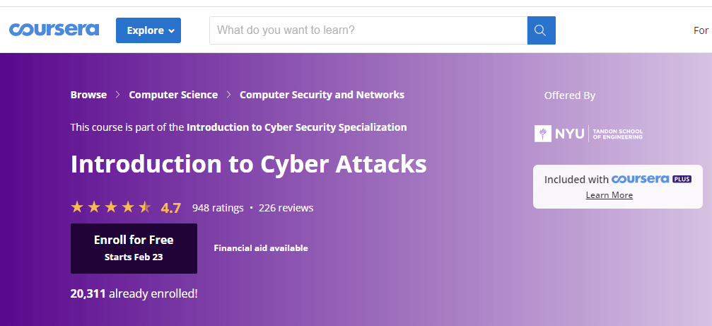 Introduction to Cyber Attack-course